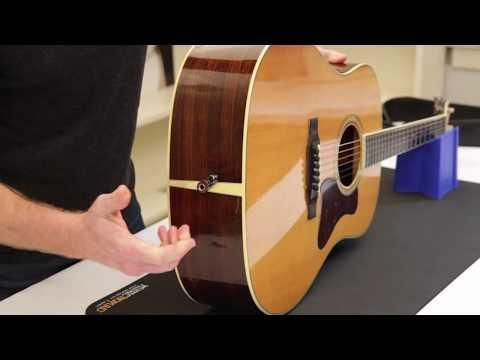 illustrative image of How to put a strap on a guitar with no buttons