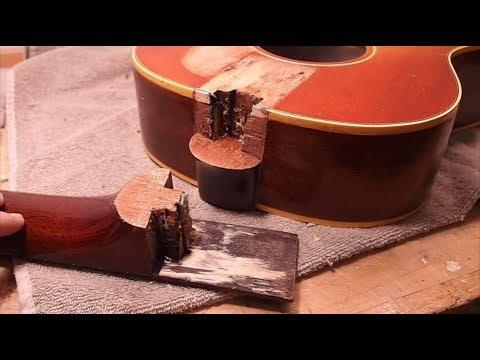 a cracked guitar