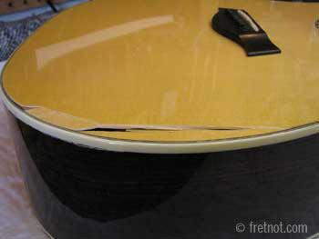 illustrative image of DIY acoustic guitar crack repair